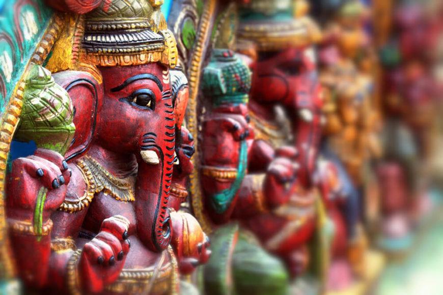 Indien ist bunt. Das gilt für die Götterwelt ebenso ...