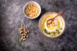 Hummus und Kichererbsen