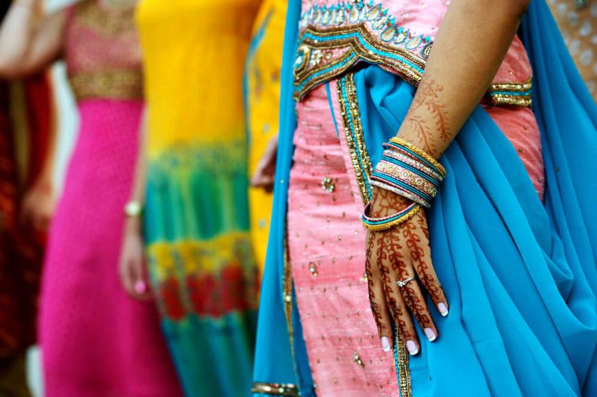... und für die farbenprächtigen Saris der Frauen.